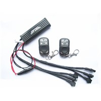 Multi-Color Control Box F Plug 6 CH Output & 2 Remote Controls For Under Car LED Lighting Strips