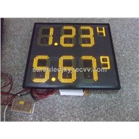 Yellow Color led gas price sign