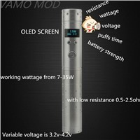 High-power 35W Vape E Cigarette, Stainless Steel Vamo Mod