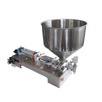 Single or double head semi auto liquid and cream filling machine
