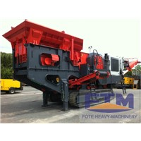 Portable rock mobile crusher plant