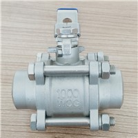 Stainless Steel 3 Piese Ball Valve