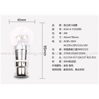 B22  Samsung clear Bulb LED Candle light