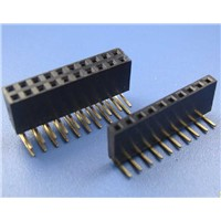 China GCT replacment female pin header,1.27mm pitch