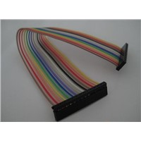 guangdong 2.54mm colorful IDC cable,single row