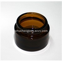 30ml Amber Glass Cosmetic Jar
