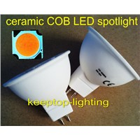 China factory directly supply ceramic body cob led 3W/4W/5W/6W spotlight, GU10/MR10 spot light