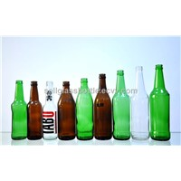 clear,amber,green beer bottle