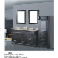 48'' modern bathroom vanity with double basin