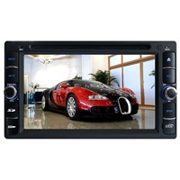 "6.2"" two din car dvd player with gps blutooth rds analog tv ipod rear camera input"