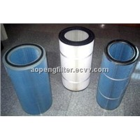 Antistatic filter gas cartridge