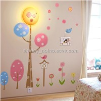 Wall Lamp and Nursery Wall decals