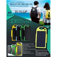 Waterproof Solar Power Bank 5000mAh For Mobile Phone