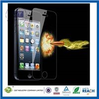C&T 2014 NEW 0.2mm color tempered glass screen protector for iphone 5