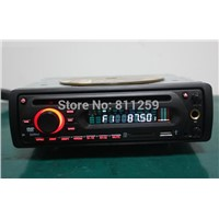 In dash one din car dvd player with DVD/VCD/CD/MP3/MP4/DIVX/CD-R dual USB karaok hard disc support
