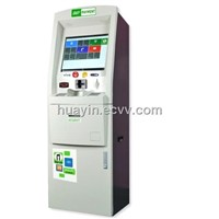 Single screen bills payment with cash acceptor touch Kiosk