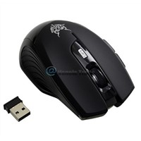 USB 2.4GHZ Wireless Optical Wheel Mouse Mice for Laptop PC [black]