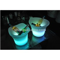 home decor led ice cooling wine/beer/champgne buckets for commercial bar/night club drinks light