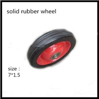 solid rubber wheel  for  toy  7 inch