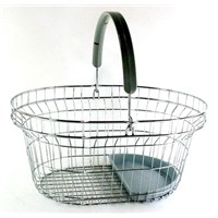 Shopping Basket, Wire Basket with Plastic Tray