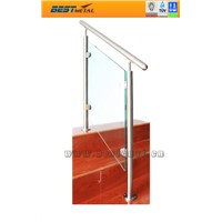 stainless steel glass balcony