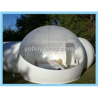 Half Transparent Inflatable Bubble Lodge for Outdoor Camping