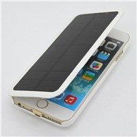 "2800mAh iPhone 6 4.7"" Emergency Solar Power External Battery Backup Charger Case"