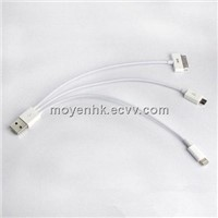 3 in 1 PVC jacket USB cable