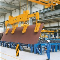 5t double girder overhead crane with magnet