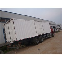 Two axle carriage semi-trailer