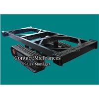 2ton rubber crawler track undercarriage track frame