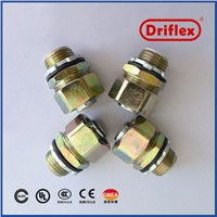 Colour Zinc Plated Steel Electrical Wire Connector Straight Couplings