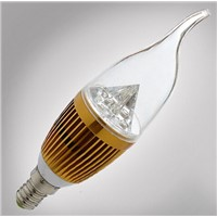 5W 360 degree Warm/Cool white Clear Glass cover E14 base Candle LED Filament Lamp
