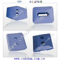 Ni-hard concrete mixer spare parts mixing blades