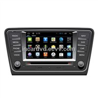 OEM Manufacturer 2 Din Android 4.2 Navigation Car DVD Player for Volkswagen Skoda Octavia 2014 / A7