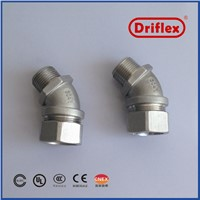 Stainless Steel 304/316 45d Angle Electrical Wire Connector for Cable & Wire Protection