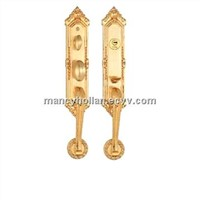 Anti-thief high security double gate locks gold color
