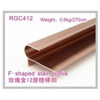 CK Rose Golden Round Stair nose flooring Profile