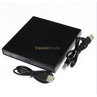 New USB 2.0 External DVD Combo CD-RW Burner Drive CD RW DVD ROM Black