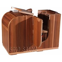 2014 New Infrared Half Body Infared Sauna with Red Glass Heater (CE/ISO/TUV/ETL)