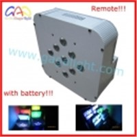 9x15w 5In1 Led par can with battery,with remote,wireless led par can
