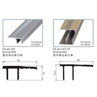 H 1/2/3/4 Track-Nail-Hidden -CK  Aluminium Flooring 8-15mm  Profile