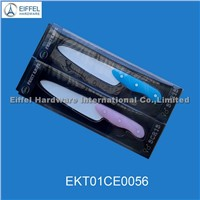 Ceramic knife in pink and blue handle(EKT01CE0056)