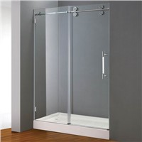 Sliding Shower Door with stainless steel rail and rollers(E02P)