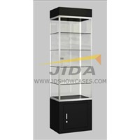 Black Square Tower Display Case
