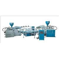 Full-Auto Type Of Double-Color Plastic Shoes Injection Moulding Machine