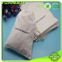 Custom Size Printed Cotton Canvas Gift Drawstring Bag Wholesale