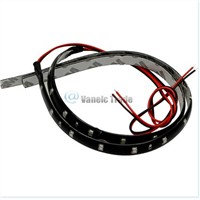 30CM Waterproof White LED Flexible Strip Lights Car Auto DIY