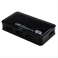 New 4-Port USB 3.0 Portable Compact Hub For PC Laptop Super Speed 5Gbps