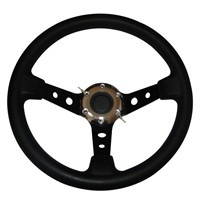 Steering Wheel with Leather Cover Aluminum Frame and Car Tunning Accessories Racing Steering Wheels